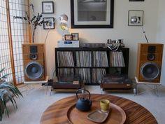 meuble vinyle platine ikea expedit kallax. #homestereoinstallation