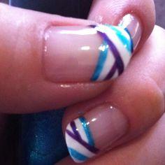 Stripes~BYS: mirror blue, deep purple & white
