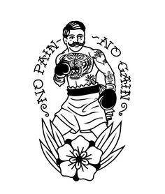 Tattoo Back Old School American Traditional - Tattoo Traditional Tattoo Boxer, Traditional Tattoo Sketches, Traditional Tattoo Old School, Traditional Tattoo Design, Neo Traditional, American Traditional Tattoos, Traditional Tattoo Flash Art, Flash Art Tattoos, Small Tattoos