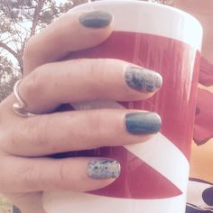 Diving, coffee and pretty nails all represented in one photo. Love how you can mix lacquers and wraps for that perfect mani combination  HTTPS://tracydonaldson.jamberry.com