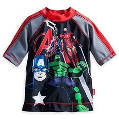 Disney Store Marvel Avengers Little Boy Rash Guard Swim Shirt Size 56 >>> Find out more about the great product at the image link.