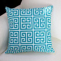 Artisan Pillows Greek Outdoor Pillow Cover Color: Blue