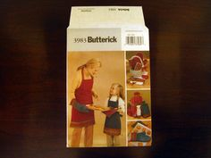 Adult and Child Christmas Hostess Accessories - Apron, Oven Mitts, Pot Polders, Gift Bags – Butterick 3983 - UNCUT Sewing Pattern by fromThePeddlersCart on Etsy