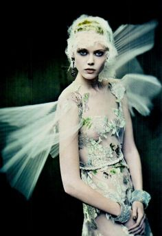 """The Haute Couture"" Frida Gustavsson photographed by Paolo Roversi for Vogue Italia 2011 by carter flynn"