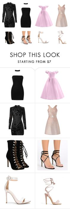 """""""Oops music video inspired 🌸 (3/3)"""" by officialarianagrandebutera ❤ liked on Polyvore featuring Boohoo, Balmain, Miss Selfridge and Gianvito Rossi"""