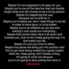 Maybe it's just your time to refine.