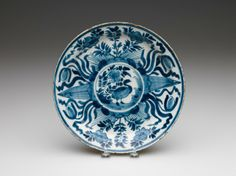 RISD Museum: Unknown artist, Dutch. Plate, 18th century. Earthenware with tin glaze and enamel. Diameter: 26.2 cm (10 5/16 inches). Bequest of Susan Martin Allien 35.726