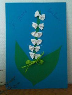 """muguet : partage de Marilou PigNata sur la page facebook """"bricolages de 0 à 3 ans"""":"""