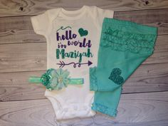 baby girl coming home outfit custom newborn girl by SweetnSparkly