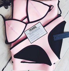 every time i order a bikini. a fake triangle bikini is best Summer Suits, Summer Wear, Summer Time, Cute Swimsuits, Cute Bikinis, Bikini Babes, Bikini Bum, Bikini Beach, Lingerie