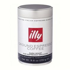 illy, Ground Espresso Coffe, Fine Grind (Dark Roast, Black Band), 8.8-Ounce Tins (Pack of 2) by illy, http://www.amazon.com/dp/B001E5DYTE/ref=cm_sw_r_pi_dp_z5brqb0CNHWRC