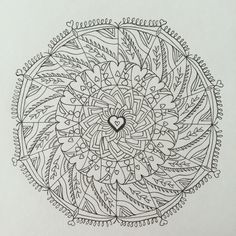 Only love can heal mandala - black and white - love birds ...