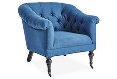 Lorick Club Chair, Blue (=)