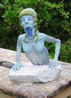 Take on the Siren, from Greek mythology. Sculpey.