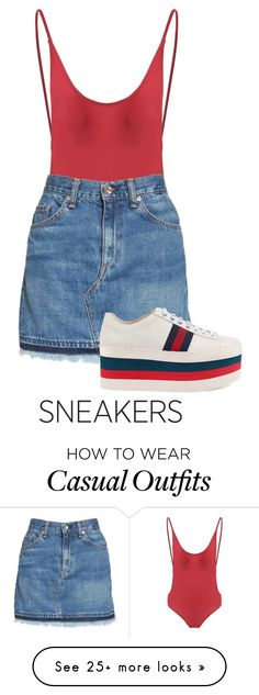 """""""e,"""" by tulliahfaith on Polyvore featuring rag & bone/JEAN and Gucci"""