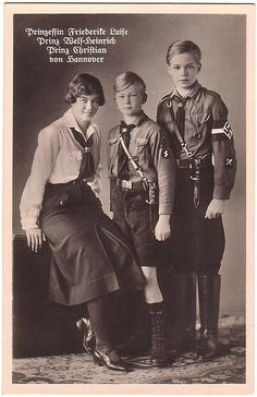 Here's proof that the blond boy is Prince Welf-Heinrich, not Welf Ernst.  Here's Welf-Heinrich with his older brother, Prince Christian Oskar, and older sister, Princess Friederike, later queen of Greece.  They are all children of Princess Viktoria Luise of Prussia, Kaiser Wihelm's only daughter, and her husband, Ernst August III, Duke of Brunswick and Hanover.