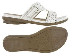 Womens Gluv Leather Orlando Comfort Open Toe Slip On Sandals Velcro Shoes UK 4-8