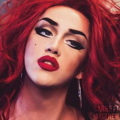 Drag Makeup by Adore Delano Drag Queen Makeup, Drag Makeup, Hair Makeup, Drag Queens, Danny Noriega, Rupaul Drag Queen, Androgyny, Makeup Designs, Beauty Make Up