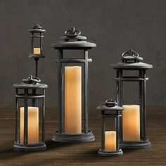 transitional candles and candle holders by Restoration Hardware