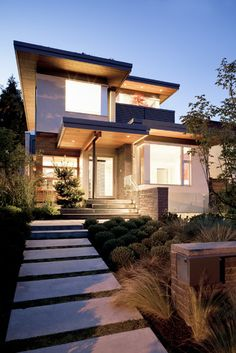 front landscape - modern - exterior - other metros - by Natural Balance Home Builders