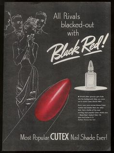 Fear not! All rivals will be blacked-out with Cutex's new Black Red! #manicure