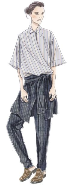 Fashion illustration  / Stripes   ♦F&I♦