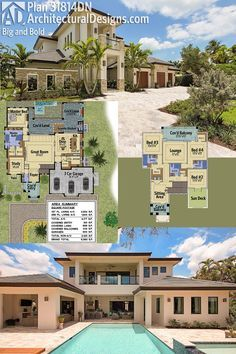 Architectural Designs Luxury House Plan 31814DN, Big And Bold! Ready when you are. Where do YOU want to build?