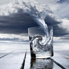 Storm In A Glass Of Water #glasses, #storms, #art