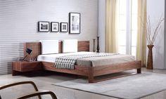 Casabianca BAY Walnut Veneer Queen Bed