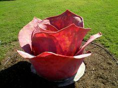 Dennis Oppenheim 'Tar Roses'  Art Experience NYC  www.artexperiencenyc.com Dennis Oppenheim, Sculpture Garden, Rose Art, Conceptual Art, Dallas, Sculptures, Texas, Roses, Nyc