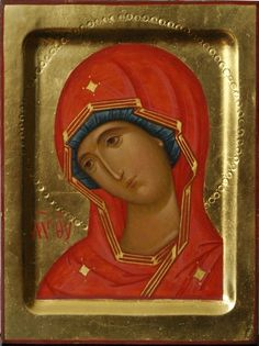 The icon of the Virgin Mary Byzantine Art, Byzantine Icons, Russian Icons, Russian Art, Religious Icons, Religious Art, Architecture Religieuse, Fortune Cards, Holy Mary