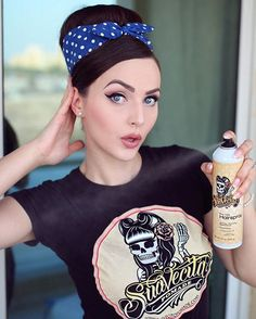 @iddavanmunster Rockabilly pinup for SuavecitaHairspray