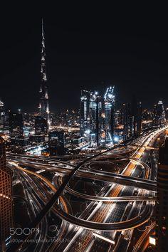 Burj Khalifa by Warsaw City, Dubai Architecture, Dubai City, Dubai Travel, Burj Khalifa, Picture Wall, San Francisco Skyline, The Good Place, New York Skyline