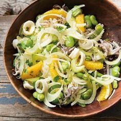 Squid Salad with Oranges, Fava Beans & Fennel | Williams-Sonoma Taste