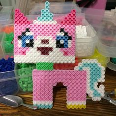 Unikitty - The Lego Movie perler beads by Dinnercrew Crafts