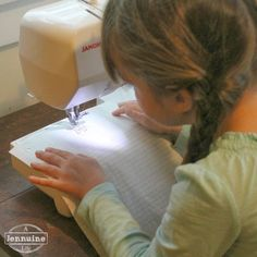 Tiny Sewists: Teaching Kids to Sew easy lessons sewing on lined paper