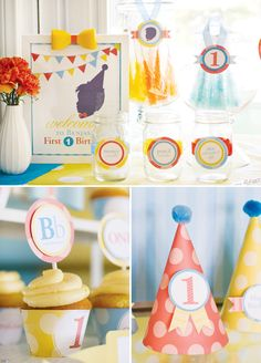 Great ABC party decor for boys first birthday!