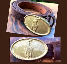 Polo Ralph Lauren Belt Brown Leather Belt Gold Brass Buckle image 0 Leather Belt Buckle, Brass Buckle, Belt Buckles, Polo Ralph Lauren, Gold, Arms, Jewelry, Image, Belt