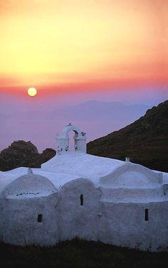 Amorgos sunset, Cyclades Islands, Greece (by nikos desyllas)
