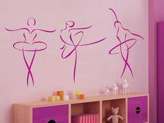 Superb Wandtattoo Ballerinas