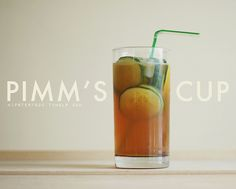 There are many, many variations of the Pimm's cup, this one's just a favorite in our house. It's sour and a little sweet and the cucumber makes it refreshing on even the hottest days.