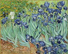 This painting, The Irises, by Van Gogh has always been my favorite. It speaks to me. Art is subjective. It either moves you or it doesn't. The colors, lines,contrast and depth intrege me and inspire me. It person it is even more amazing!