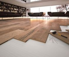 Home Improvement, Renovation & Hardware Store Groutless Tile, Renovation Hardware, Wood Tile Floors, Wood Floor, Wooden Flooring, Living Room Colors, Interior Design Living Room, Custom Homes, Interior And Exterior