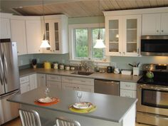 The Chef's Kitchen Features Hardwood Cabinets & Corian Wellfleet, Cape Cod vacation rental on WeNeedaVacation.com ID 4999