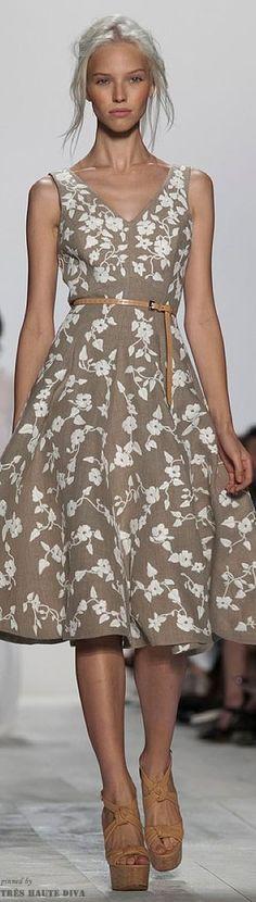 O.M.G. THIS DRESS! My fav color combo, fav cut & full skirt, love anything & everything by Michael Kors. Spring 2014