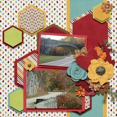 Layout by CT Stephanie using Cozy Cabin by Luv Ewe Designs digital scrapbooking