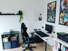 Beginner lvl battlestation Computer Setup, Microsoft Surface, Desk, Bedroom, Pictures, Anime, Furniture, Home Decor, Sailor Moon Wallpaper