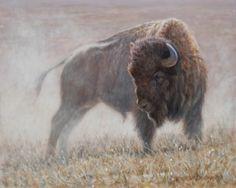 Standoff 8x10, painting by artist George Lockwood