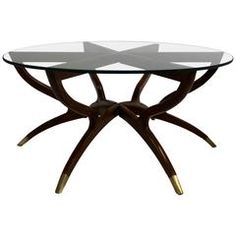 Exceptional Mid Century Modern Collapsible Spider Leg Coffee Table Photo