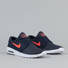 Nike SB Stefan Janoski Max Shoes - Obsidian / Hot Lava / White | Flatspot